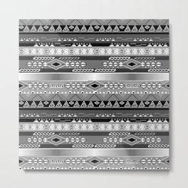 Ethnic stripes. Tribal pattern Indians. Metal Print