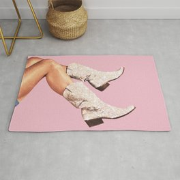 These Boots - Glitter Pink II Rug