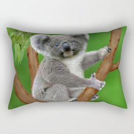 Blue-eyed Baby Koala Bear Rectangular Pillow