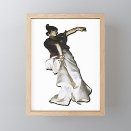 Dancer - Woman Dancing - Design Framed Mini Art Print