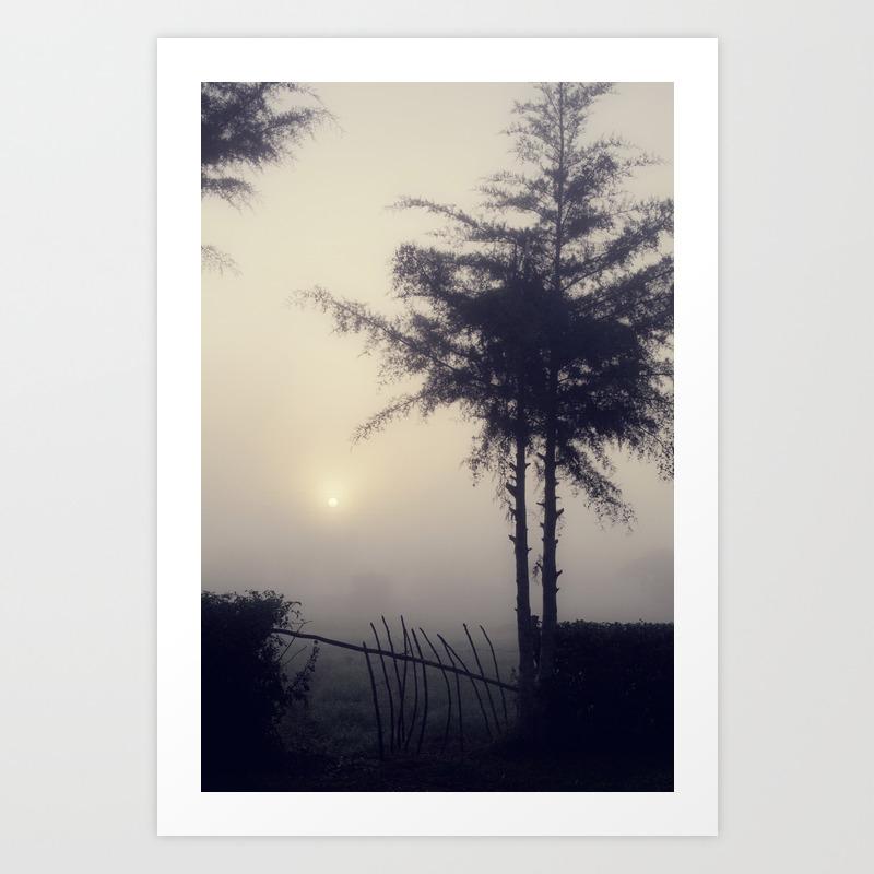 Misty View Art Print by Jessypesce PRN972983