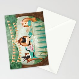The Cat & Rabbits' Tea Party Stationery Cards