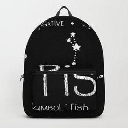Pisces Horoscope Astrology Star Sign Birthday Gift Backpack