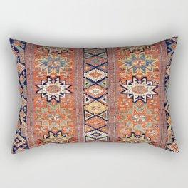 Southwestern Farmhouse I // 19th Century Colorful Red Yellow Blue Green Aztec Farm Stars Pattern Rectangular Pillow