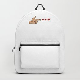 Human Handgun Heart Bullets Valentines Day Backpack