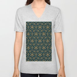 Green & Brown GeoMetric Unisex V-Neck