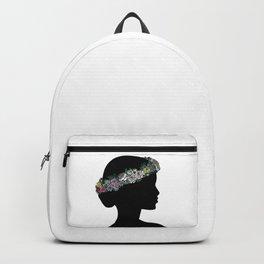 Flower Crown Silhouette Backpack