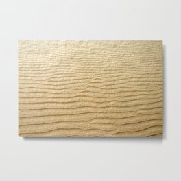 NATURAL SAND ART Metal Print