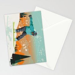Snowboard Jump Stationery Cards