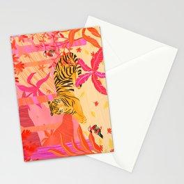 Tiger and Mandarin Ducks Stationery Cards