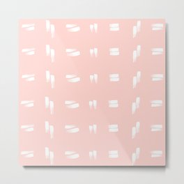 mudcloth iv (blush pink) Metal Print