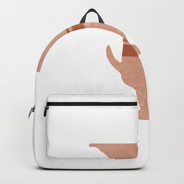 Minimal Abstract Greek Vase 13 - Calyx Krater - Terracotta Series - Modern, Contemporary Print Backpack