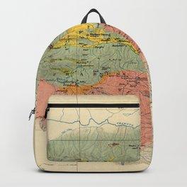 Vintage Geological Map of The Mount Everest Region (1921) Backpack