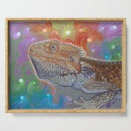 Cosmic Dragon, Bearded Dragon Art Serving Tray