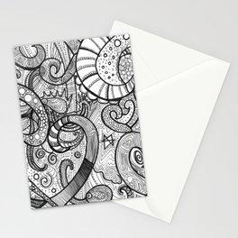 octupi heart Stationery Cards