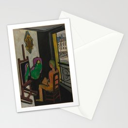 Le Peintre dans son atelier (The Painter and His Model) - Henri Matisse Stationery Cards