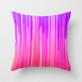 Abstract pink violet white watercolor brushstrokes Throw Pillow