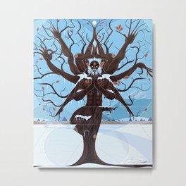 Vrksasana: Chill Oak Metal Print