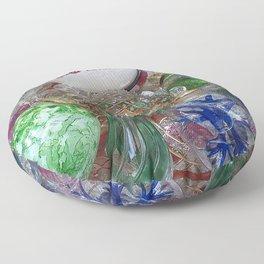 Merry Christmas Murano glass ornaments Floor Pillow