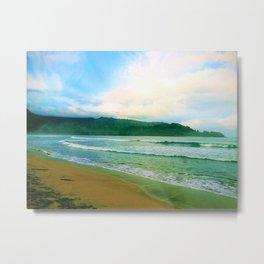 Hanalei Bay Kauai by Reay of Light Metal Print