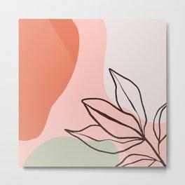 Botanical Abstract Art Metal Print