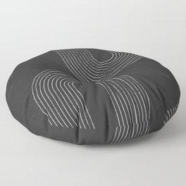 Chalk Brush Rainbows Floor Pillow