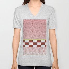 nezuko pattern Unisex V-Neck