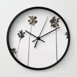 Row of palm trees Wall Clock