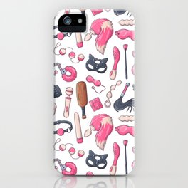 Adults Sex Toys Pattern iPhone Case