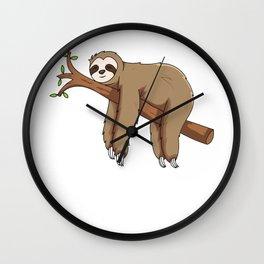 My Patronus Is A Sloth Animal Wall Clock
