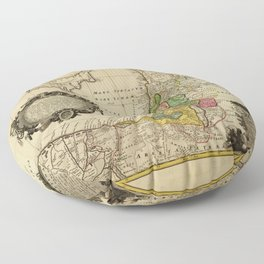 Map of Palestine (1744) Floor Pillow