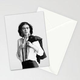 Frida Kahlo Wearing White Shirt Stationery Cards