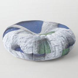 Sea Glass Mosaic Detail Floor Pillow