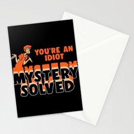 mystery solved Stationery Cards