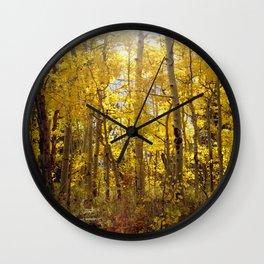 Golden Evening Wall Clock