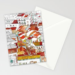 Coloring book Southern Europe Cities: Naraze colored Stationery Cards