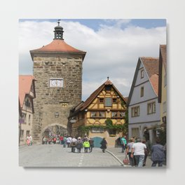 Rothenburg ob der Tauber Impression Metal Print