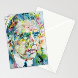 NIELS BOHR watercolor portrait.2 Stationery Cards