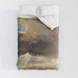 Johan Christian Dahl - Clouds And Sunbeams Over The Windberg Near Dresden Comforters