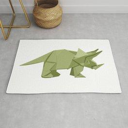 Origami Triceratops Rug