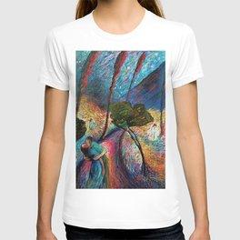 'The Love Vortex - Star-crossed Lovers' Variation 2 mountain landscape by Marianne Von Werefkin T-shirt