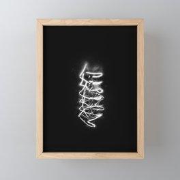 The electric filament of a light bulb   | Black & White Photography | Macro Photography | Photo Print | Art Print Framed Mini Art Print