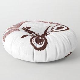 Brrraaaaap Red Checkered Flag Moto Language Floor Pillow