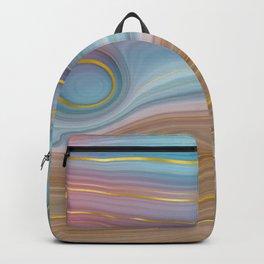 pastel acrylic geode Backpack