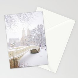 Central Park New York City Snow Day Stationery Cards