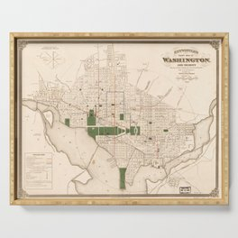 Vintage Map of Washington DC (1876) Serving Tray