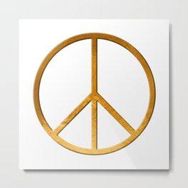 P E A C E - Symbol Metal Print
