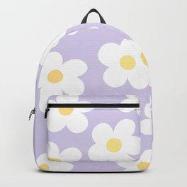 Lavender 70's Retro Flower Power Backpack