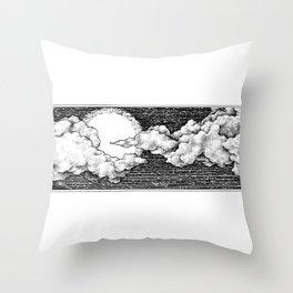 8 Bit Sky Throw Pillow