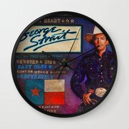 George Strait Wall Clock
